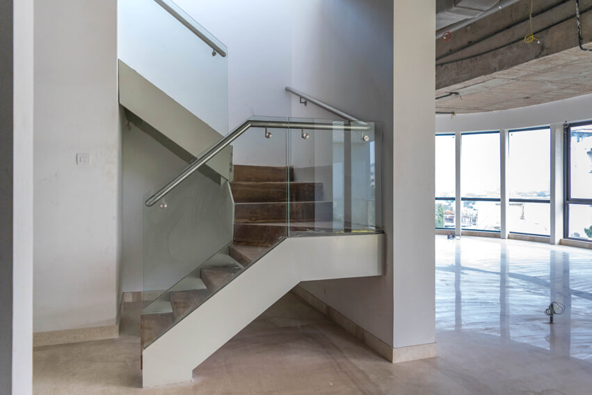 Penthouse Stairs to Terrace and Living Room Entry