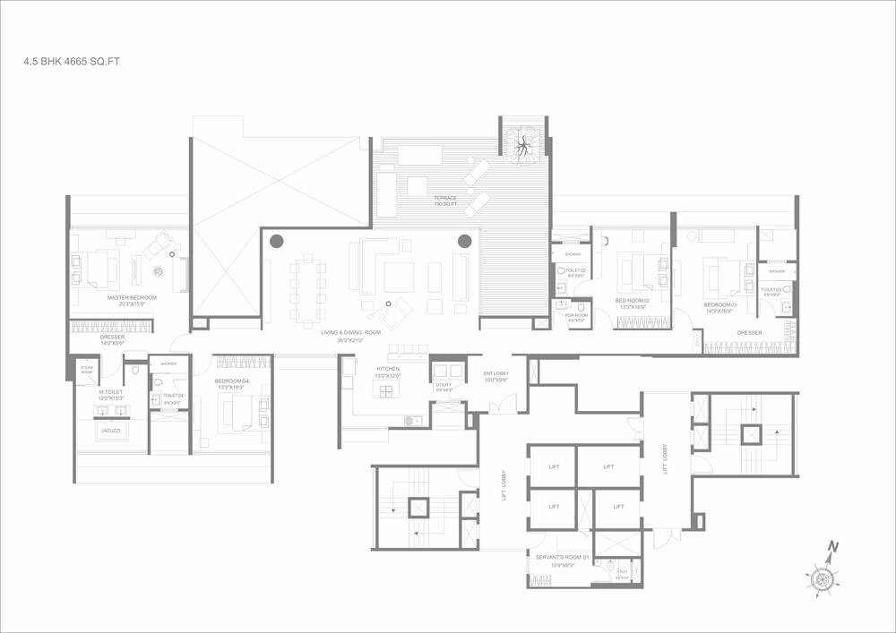 4 5 bhk luxury apartments in magarpatta pune marvel kyra for 5 bhk duplex floor plan